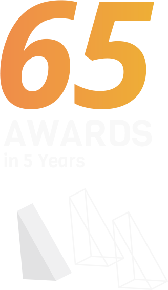 65 awards in 5 years